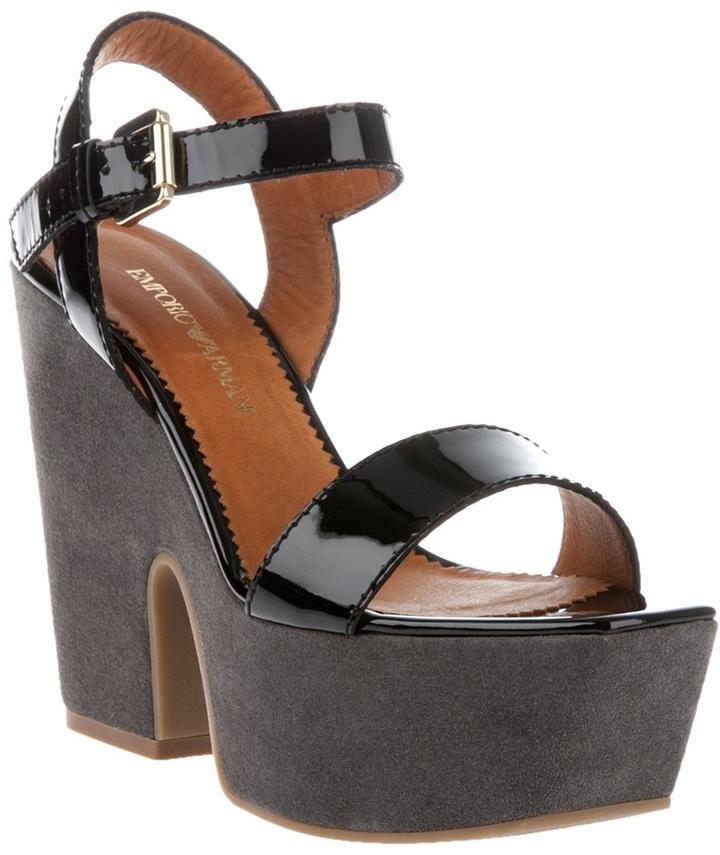 Emporio Armani wedge sandal