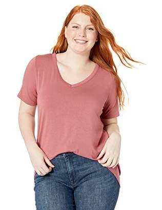 Amazon Brand - Daily Ritual Women's Plus Size Jersey Short-Sleeve V-Neck T-Shirt
