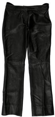 Laundry by Shelli Segal Low-Rise Leather Pants