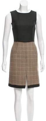 Dolce & Gabbana Wool Plaid Mini Dress