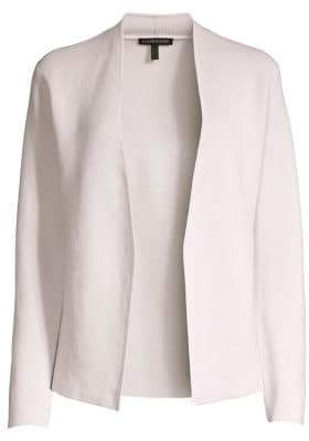 Eileen Fisher Shape Silk & Organic Cotton Cardigan