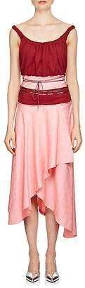 J.W.Anderson WOMEN'S BEADED COLORBLOCKED ASYMMETRIC DRESS