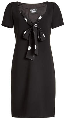 Moschino Fitted Dress with Printed Tie