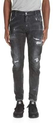 DSQUARED2 Twin Peaks Wash Tidy Biker Jeans