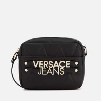 Versace Women's Quilted Logo Small Cross Body Bag - Black