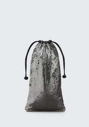 Alexander Wang RYAN DUST BAG IN SILVER STUD RHINESTONE