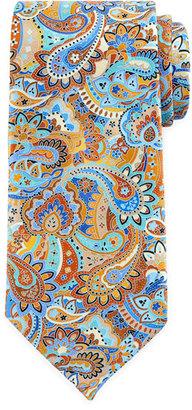 Ermenegildo Zegna Quindici Paisley Tie, Rust $285 thestylecure.com