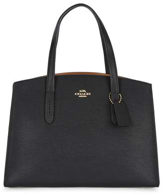 Coach Charlie Black Leather Tote