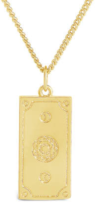 Sterling Forever 14K Plated Tarot Card Necklace