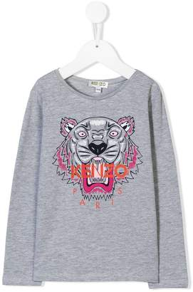 Kenzo Tiger logo long-sleeve top