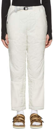 Off-White and Wander Fleece Primaloft Trousers