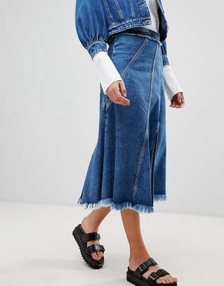 Sportmax CODE Code Denim Midi Skirt Two-piece
