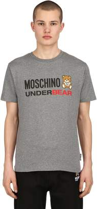 Moschino Printed Jersey Stretch Slim Fit T-Shirt