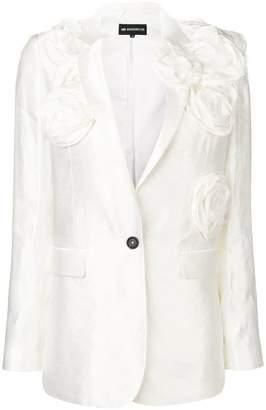 Ann Demeulemeester flower appliqué blazer