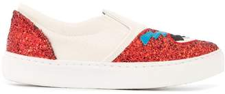 Chiara Ferragni Flirting glitter slip-on sneakers