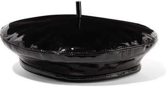 Eugenia Kim Carter Patent-leather Beret - Black