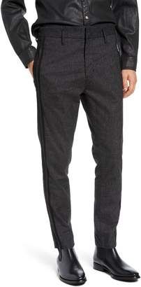 John Varvatos Side Stripe Cuffed Cotton Blend Pants