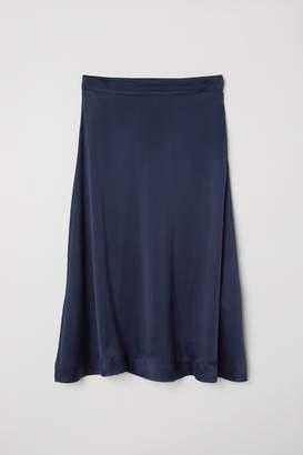 H&M Silk-blend Skirt - Blue
