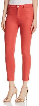 J Brand Alana High Rise Crop Skinny Jeans in Coated Rose Tea