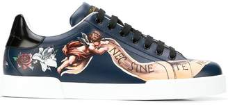 Dolce & Gabbana painted sneakers