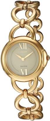 Citizen Women's 'Eco-Drive Jolie' Quartz and Stainless-Steel Dress Watch, Color: -Toned (Model: EX1452-53P)