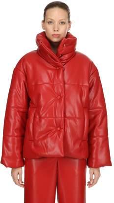 Nanushka Faux Leather Puffer Jacket