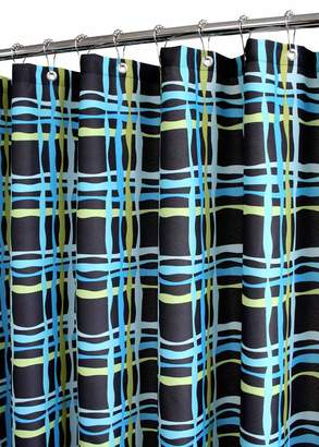 B. Smith Park Wavy Plaid Watershed Shower Curtain