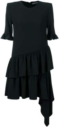 Alexander McQueen ruffle asymmetric shift dress
