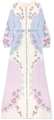 Vilshenko Mallory Printed Crepe Maxi Dress - Ivory