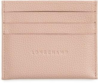 Longchamp 'Le Foulonne' Pebbled Leather Card Holder