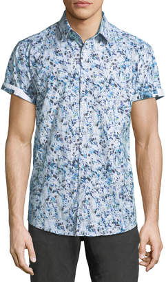 1 Like No Other Classic-Fit Abstract Pattern Short-Sleeve Sport Shirt