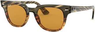 Ray-Ban Men's Square Acetate Sunglasses with Solid Lenses