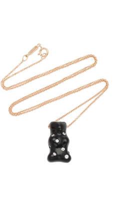 Lauren X Khoo Rhodium-Plated 18K Gold, Onyx and Diamond Necklace