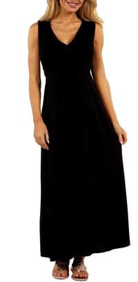 24/7 Comfort Apparel Vneck Maxi Dress