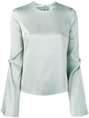 Galvan bell sleeves blouse