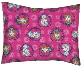 SheetWorld Twin Pillow Case - Flannel Pillow Case - Anna & Elsa