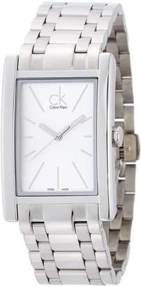 Calvin Klein Men's Steel Bracelet & Case Swiss Quartz -Tone Dial Analog Watch K4P21146