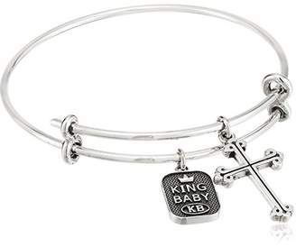 King Baby Unisex Adjustable Bangle Bracelet with Traditional Cross Charm Bracelet $245 thestylecure.com