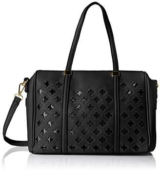 MG Collection Beatriz Cutout Bowling Tote Shoulder Bag