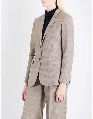 Rag & Bone Ladies Camel Spot Rona Houndstooth Wool Blazer