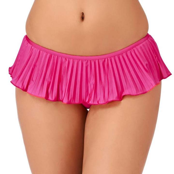 Pink Skirted Hipster Bikini Briefs