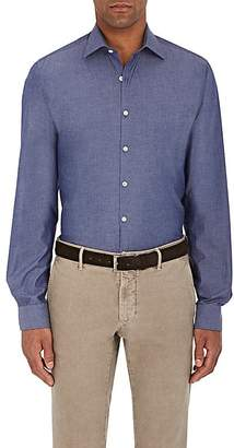 Piattelli MEN'S COTTON CHAMBRAY DRESS SHIRT