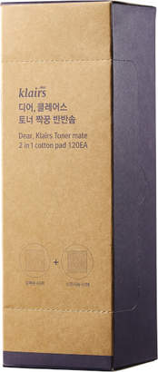 Dear, Klairs Toner Mate 2-in-1 Cotton Pads (120 Pads)