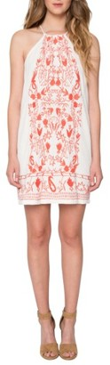 Women's Willow & Clay Embroidered Cotton Minidress $89 thestylecure.com