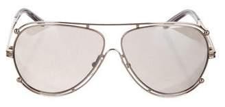 Chloé Aviator Reflective Sunglasses