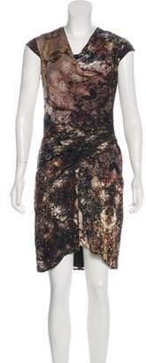 Helmut Lang Silk Printed Dress