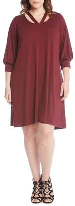 Karen Kane Taylor Cross Front A-Line Dress