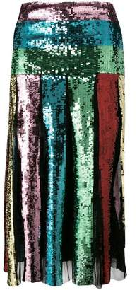 Circus Hotel sequin pleated skirt