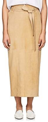 The Row Women's Arun Belted Suede Skirt