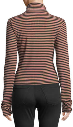 Knot Sisters Burnadette Striped Turtleneck Top
